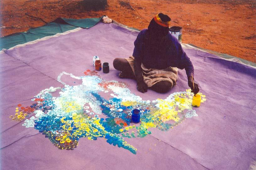 Emily Kame Kngwarreye - Earth's Creation
